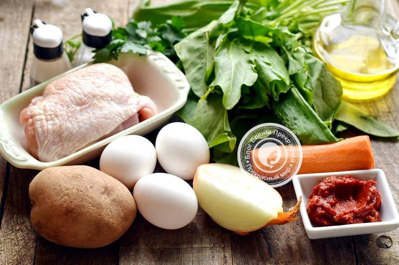Зеленый борщ с щавелем и яйцом: рецепт в домашних условиях