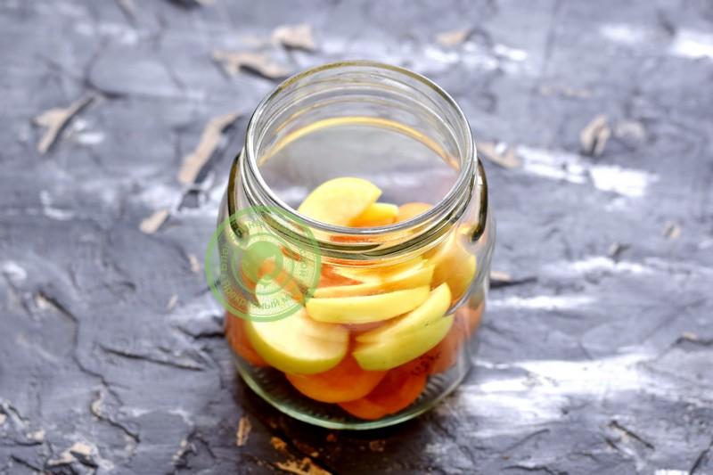 компот из абрикос и яблок на зиму рецепт приготовления