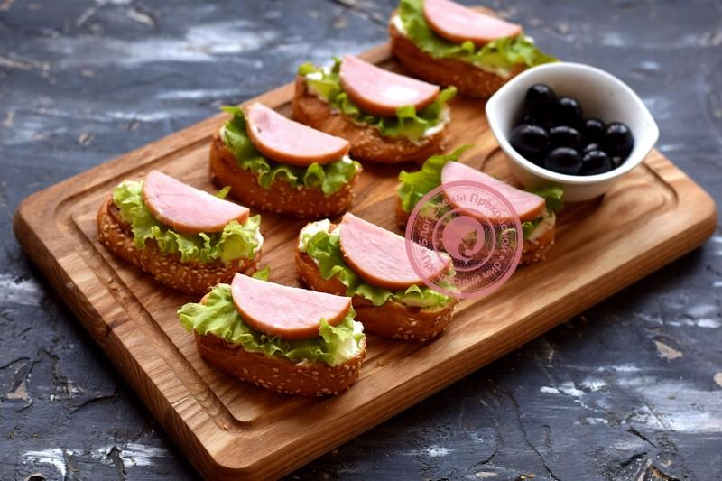 бутерброды с ветчиной рецепт в домашних условиях