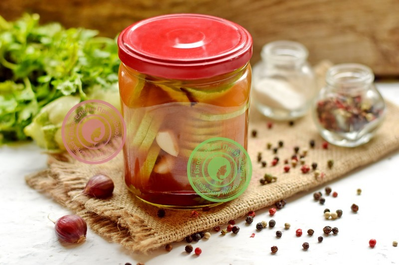 Кабачки с кетчупом на зиму: фото рецепт в домашних условиях