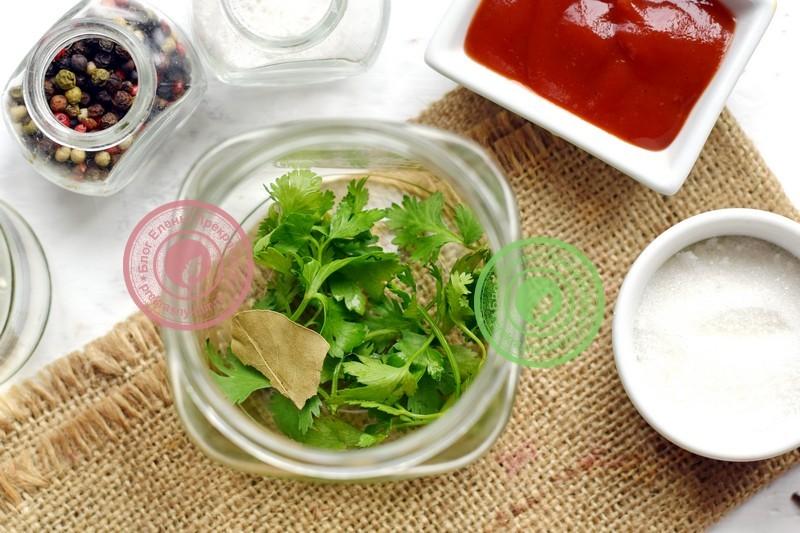 кабачки с кетчупом на зиму рецепт