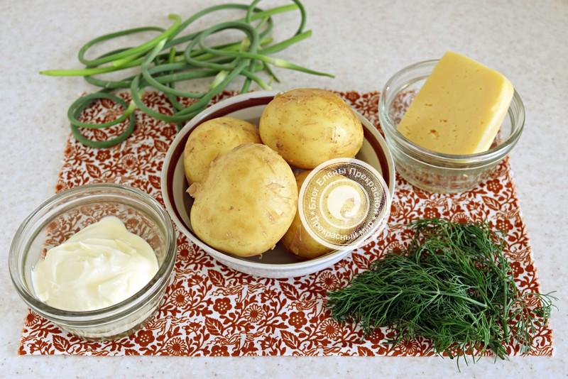 Запеченный картофель с сыром и чесноком: рецепт в домашних условиях