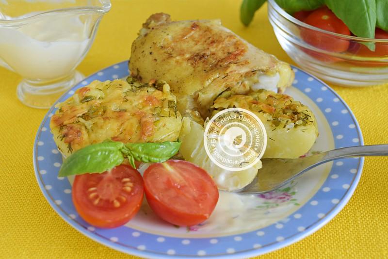 Запеченный картофель с сыром и чесноком рецепт в домашних условиях