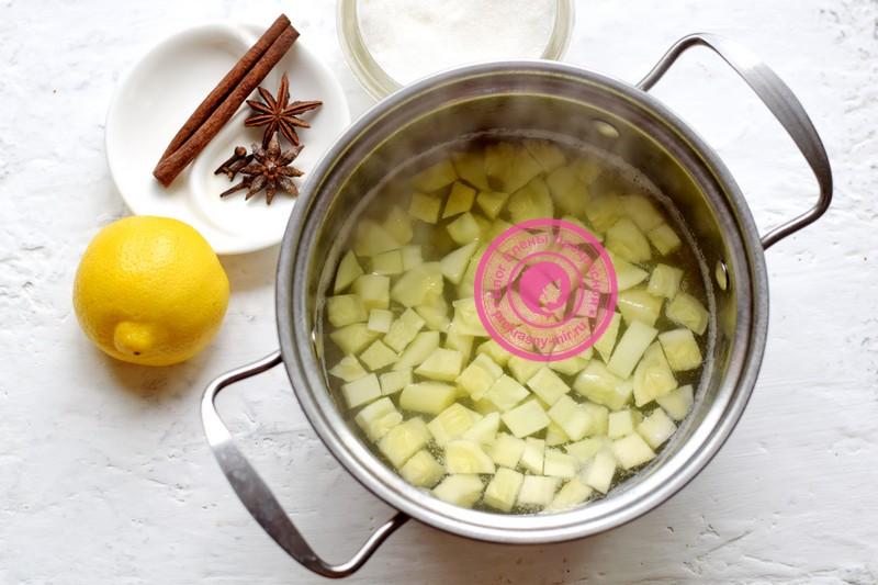 компот из кабачков с лимоном рецепт с фото