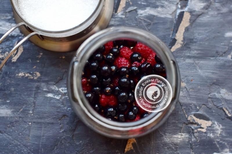 компот из черной смородины и малины рецепт с фото