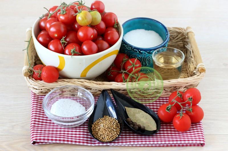 Продукты для маринования помидоров черри
