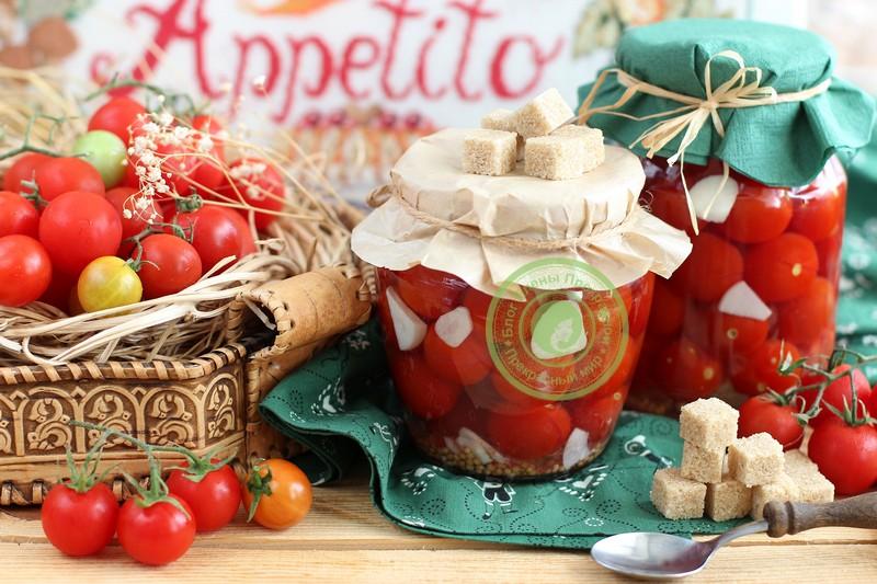 маринованные помидоры черри на зиму рецепт в домашних условиях