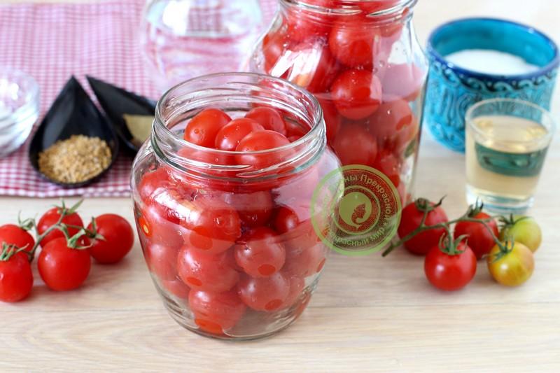 маринованные помидоры черри на зиму рецепт с фото
