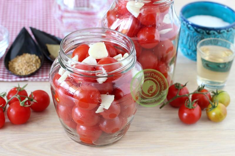 маринованные помидоры черри на зиму рецепт приготовления