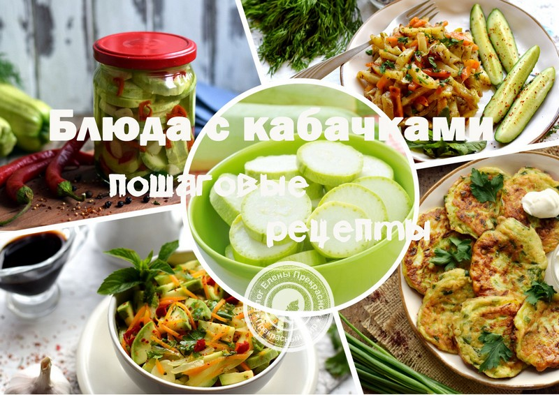 Рецепты из кабачков: пошагово с фото в домашних условиях
