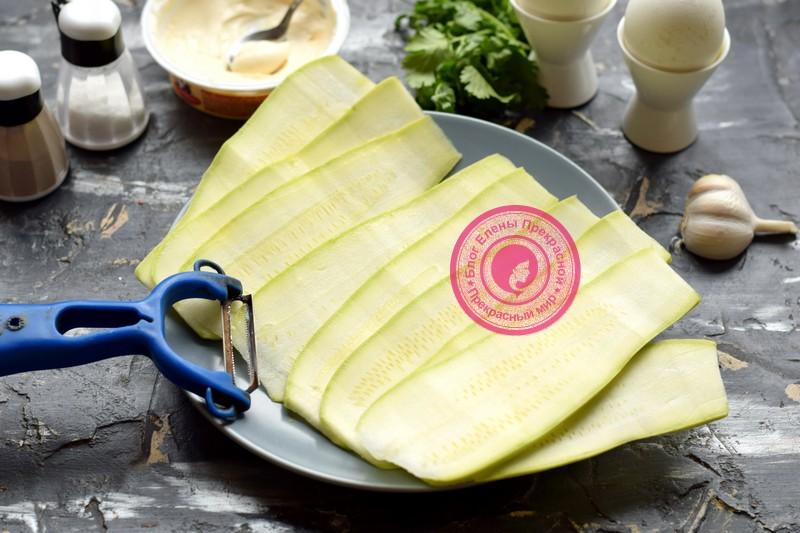 рулетики из кабачков с сыром рецепт