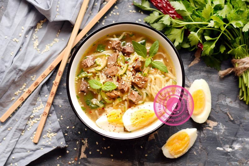 Суп Рамен с яичной лапшой: рецепт в домашних условиях