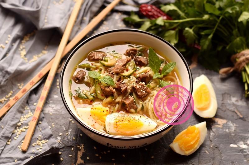 суп Рамен с яичной лапшой рецепт в домашних условиях