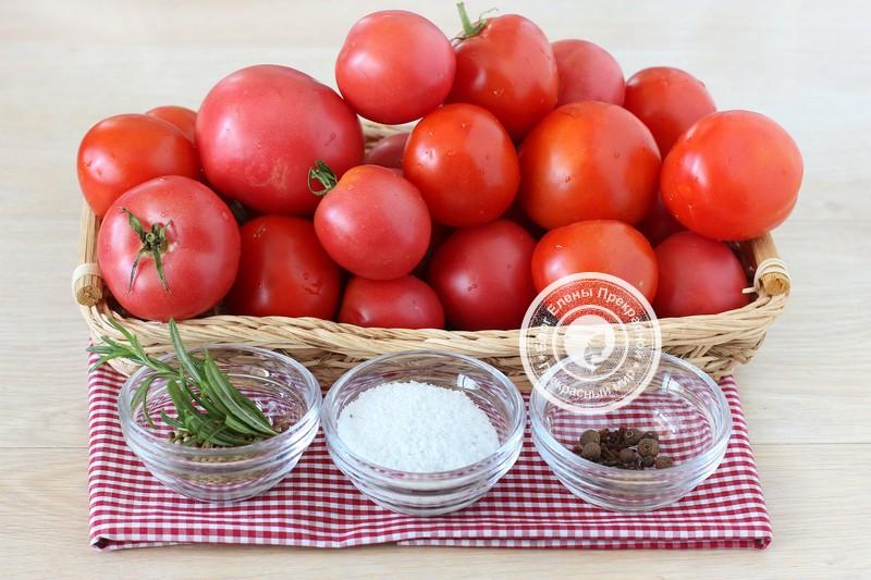 Ингредиенты для приготовления томатного соуса