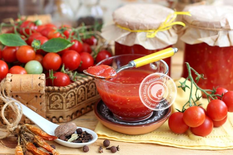 Томатный соус на зиму: рецепт в домашних условиях