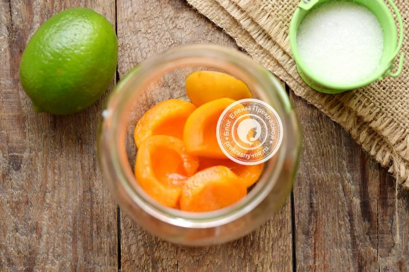 абрикосовый компот с лимоном рецепт