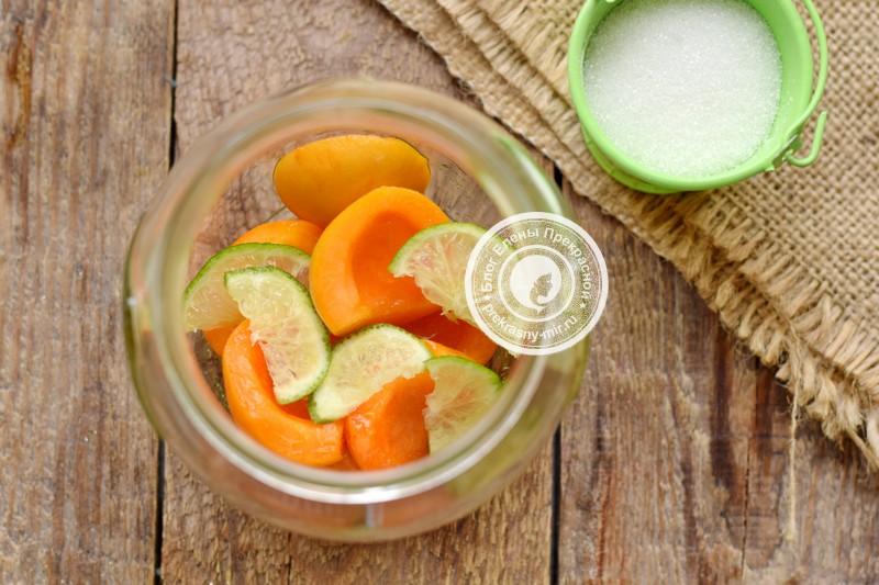 абрикосовый компот с лимоном рецепт с фото