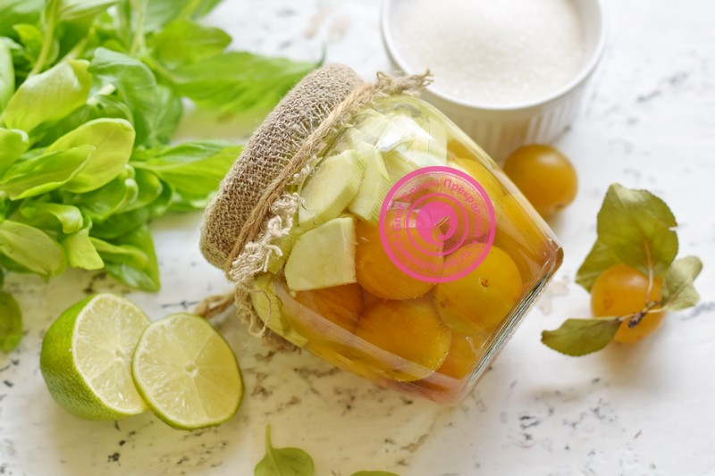 кабачки с алычой на зиму рецепт в домашних условиях