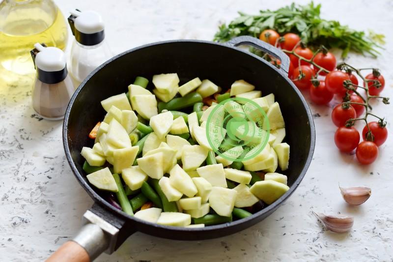 кабачки со спаржевой фасолью рецепт пошагово