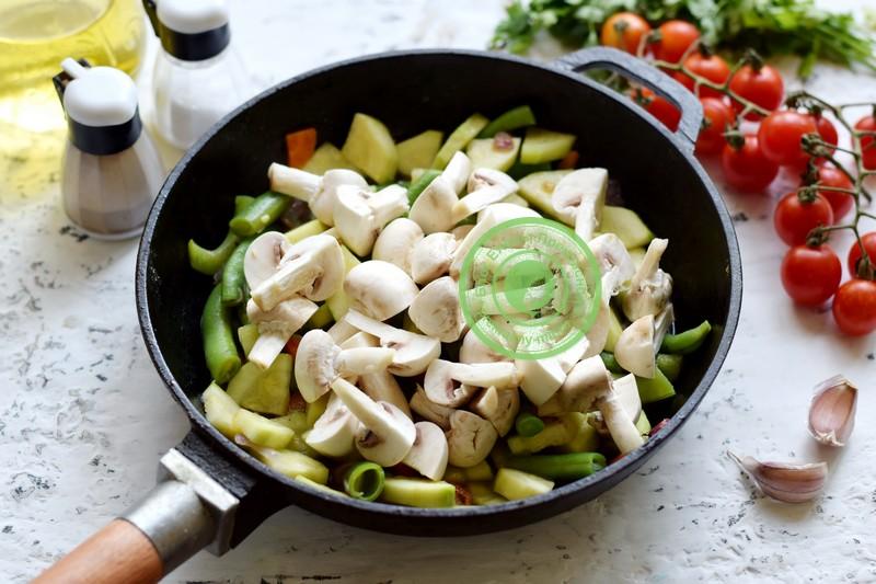 кабачки со спаржевой фасолью рецепт в домашних условиях