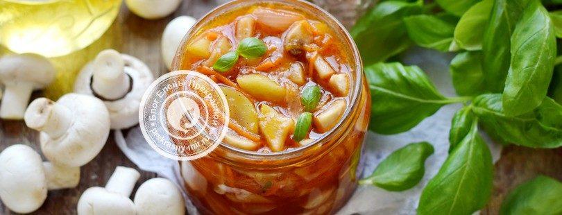 кабачки с грибами на зиму в томате рецепт в домашних условиях