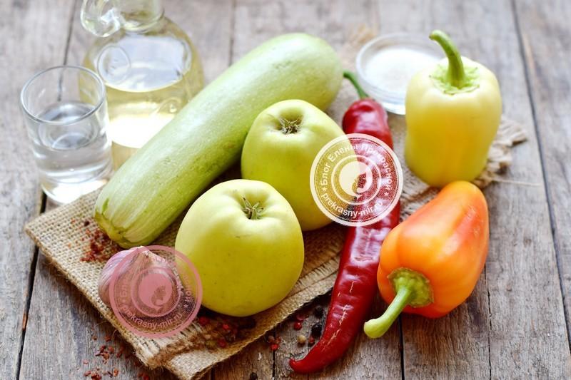аджика из кабачков и яблок на зиму