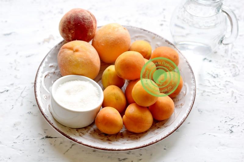 компот из абрикосов и персиков на зиму