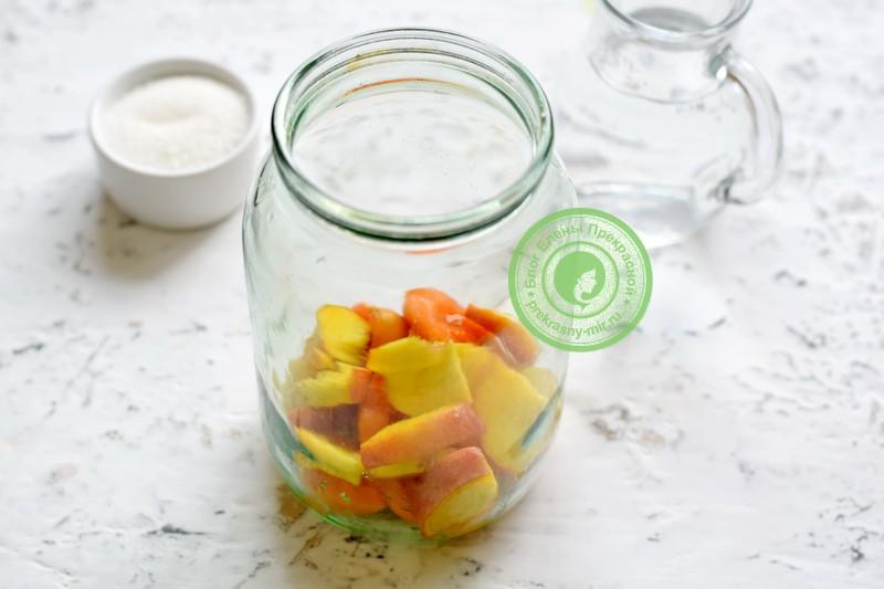 компот из абрикосов и персиков на зиму рецепт пошагово