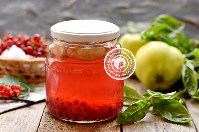 компот из яблок и красной смородины на зиму рецепт в домашних условиях