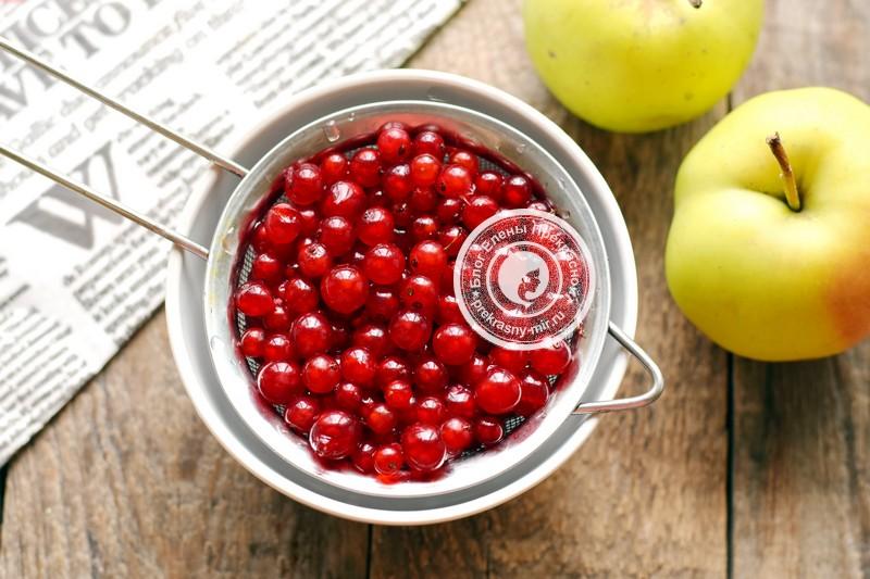 компот из яблок и красной смородины на зиму рецепт