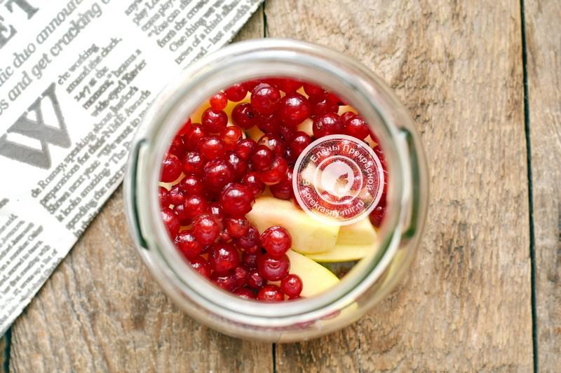 компот из яблок и красной смородины на зиму рецепт пошагово