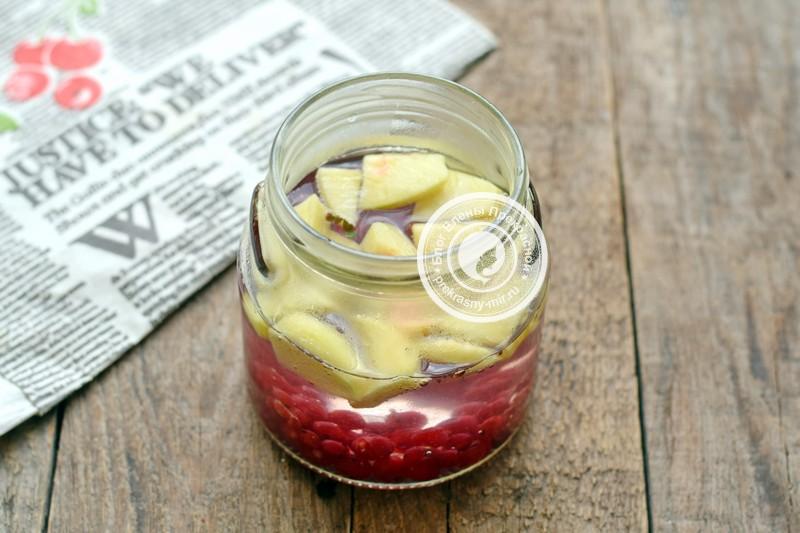 компот из яблок и красной смородины на зиму рецепт приготовления