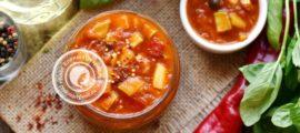 острые кабачки в томатном соусе на зиму рецепт в домашних условиях