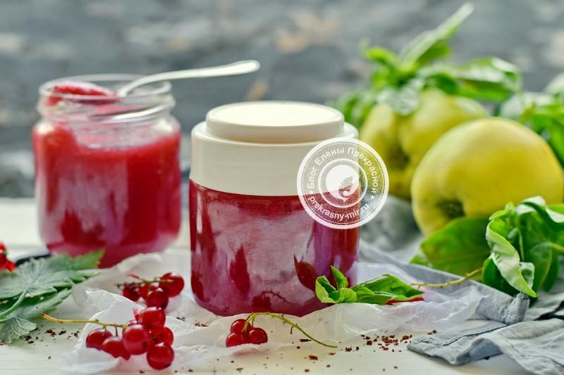 пюре из яблок и красной смородины рецепт в домашних условиях