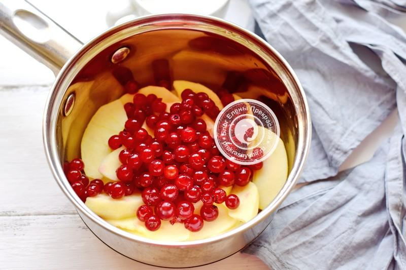 пюре из яблок и красной смородины рецепт приготовления