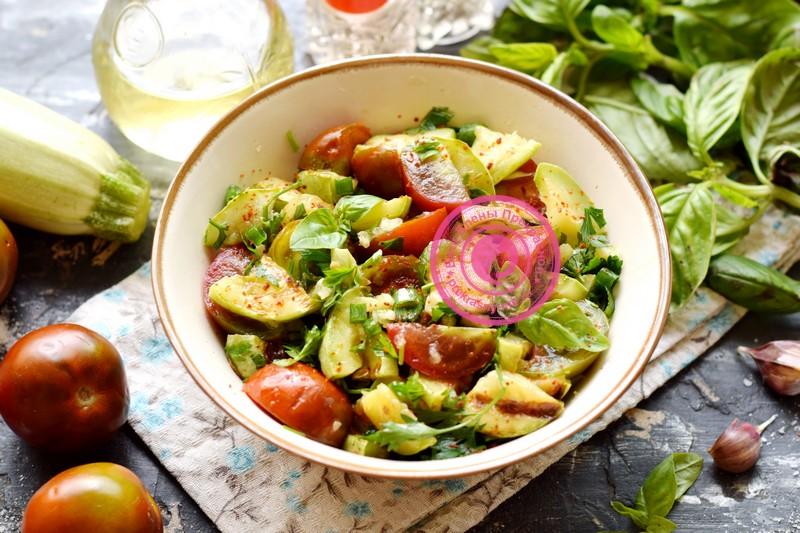 салат с жаренными кабачками рецепт в домашних условиях
