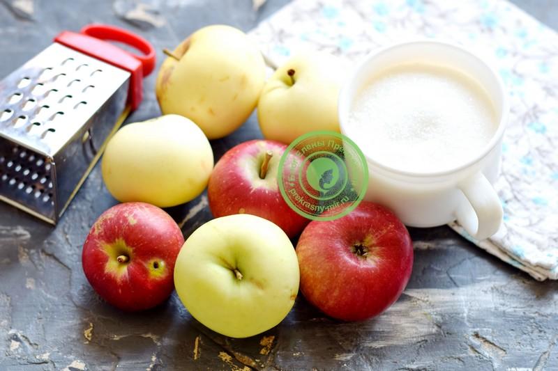тертые яблоки с сахаром на зиму