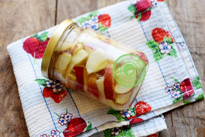 Яблоки в собственном соку на зиму рецепт в домашних условиях