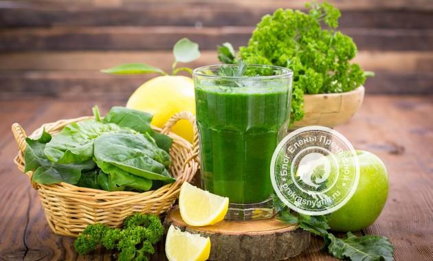 Зеленые коктейли для очищения организма