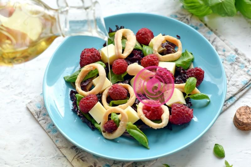 салат с кальмарами и моцареллой рецепт приготовления