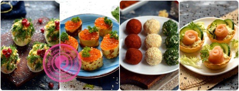 Холодные закуски: рецепты на праздничный стол