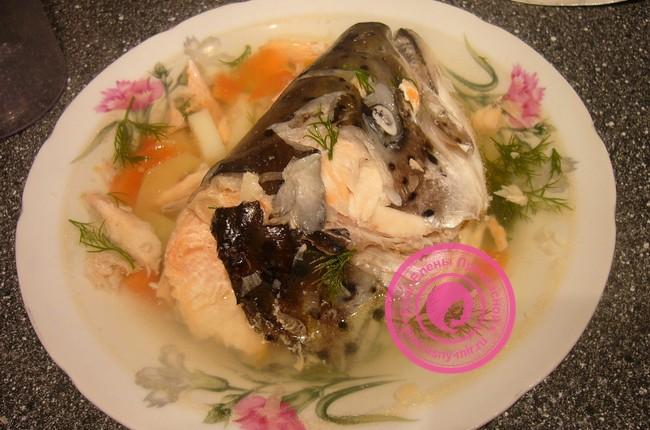 Рыбный суп из головы и хвоста
