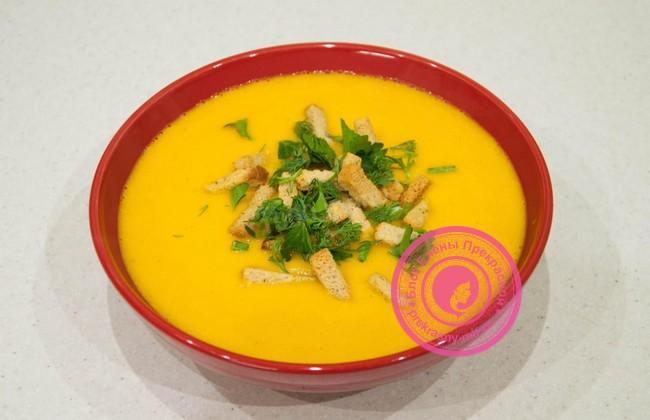 Рецепт постного морковного супа пюре