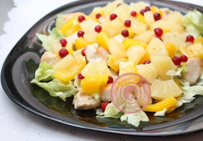 Салат с брусникой