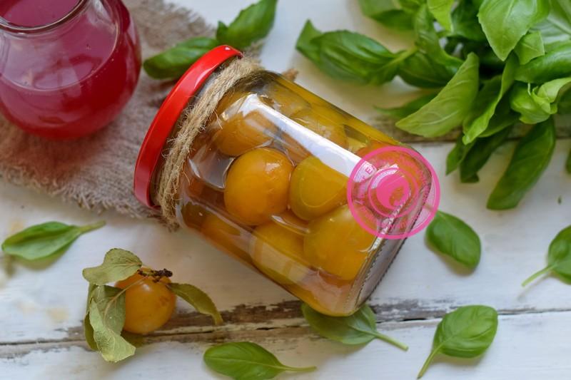 Желтая алыча в сиропе на зиму рецепт приготовления в домашних условиях