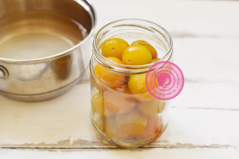 Желтая алыча в сиропе на зиму рецепт с фото