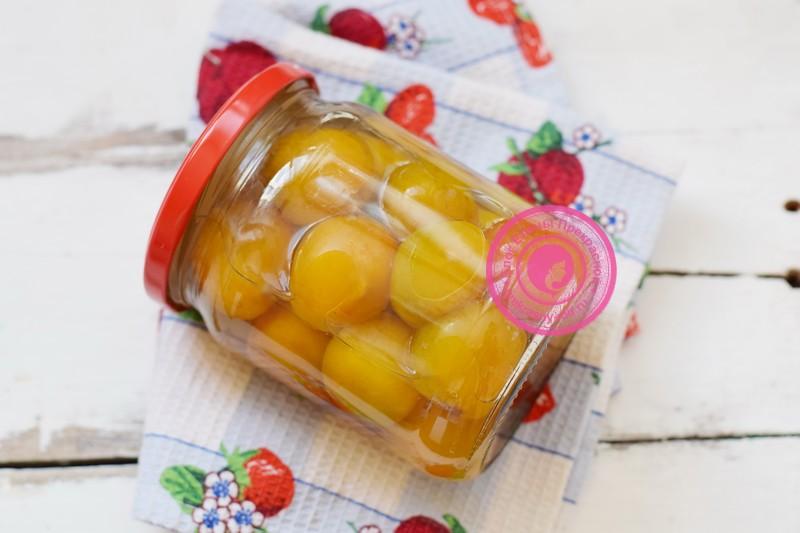 Желтая алыча в сиропе на зиму рецепт приготовления