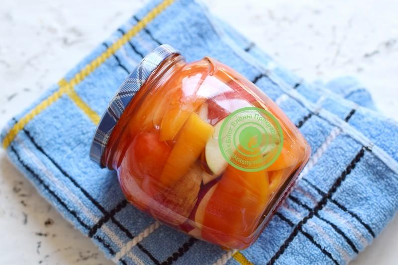 Перец маринованный с яблоками на зиму рецепт в домашних условиях