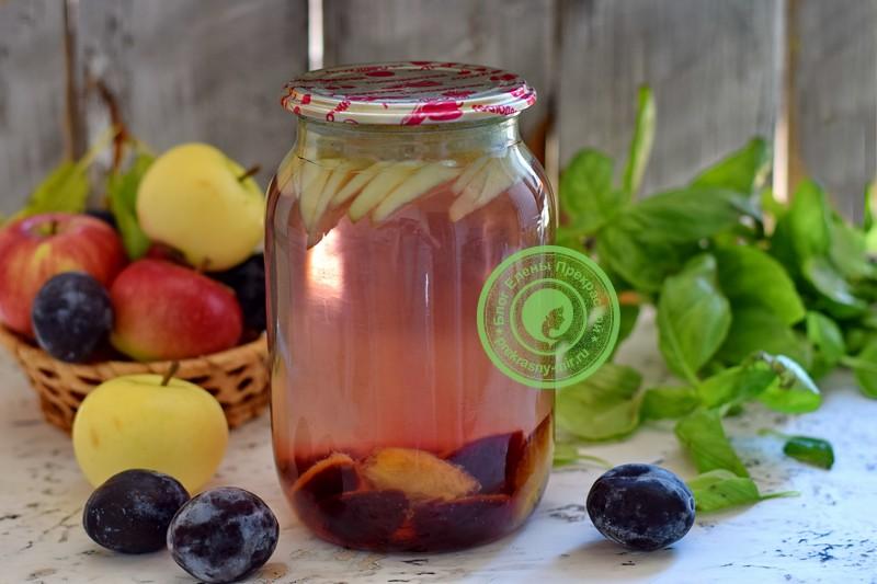 Компот из слив и яблок на зиму рецепт в домашних условиях