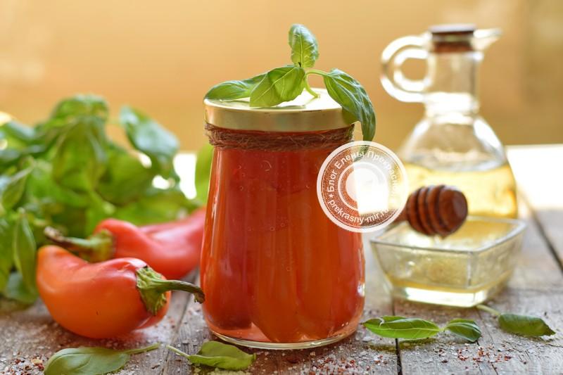 перец с медом на зиму рецепт пошагово в домашних условиях